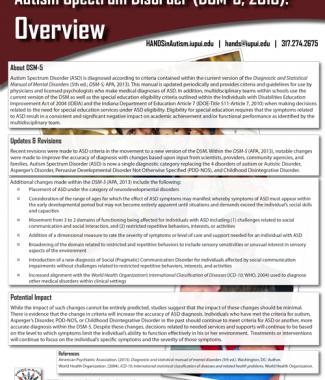 ASD DSM Overview