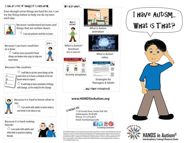 I have autism brochure thumbnail