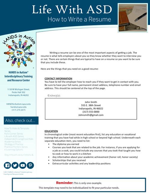 write a resume thumbnail