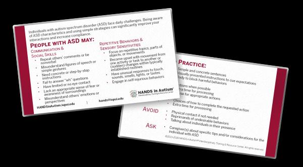 Autism Information Card