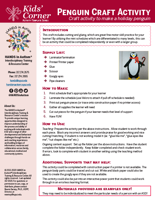 first page penguin activity