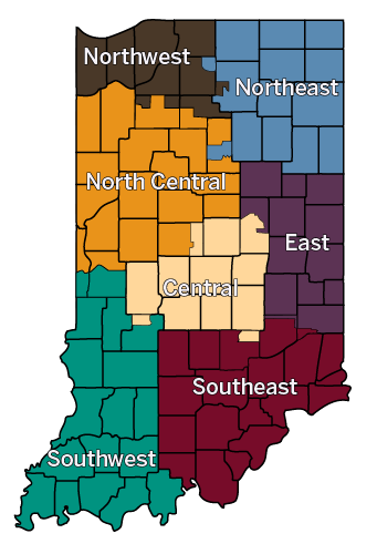 LCC Map of Indiana