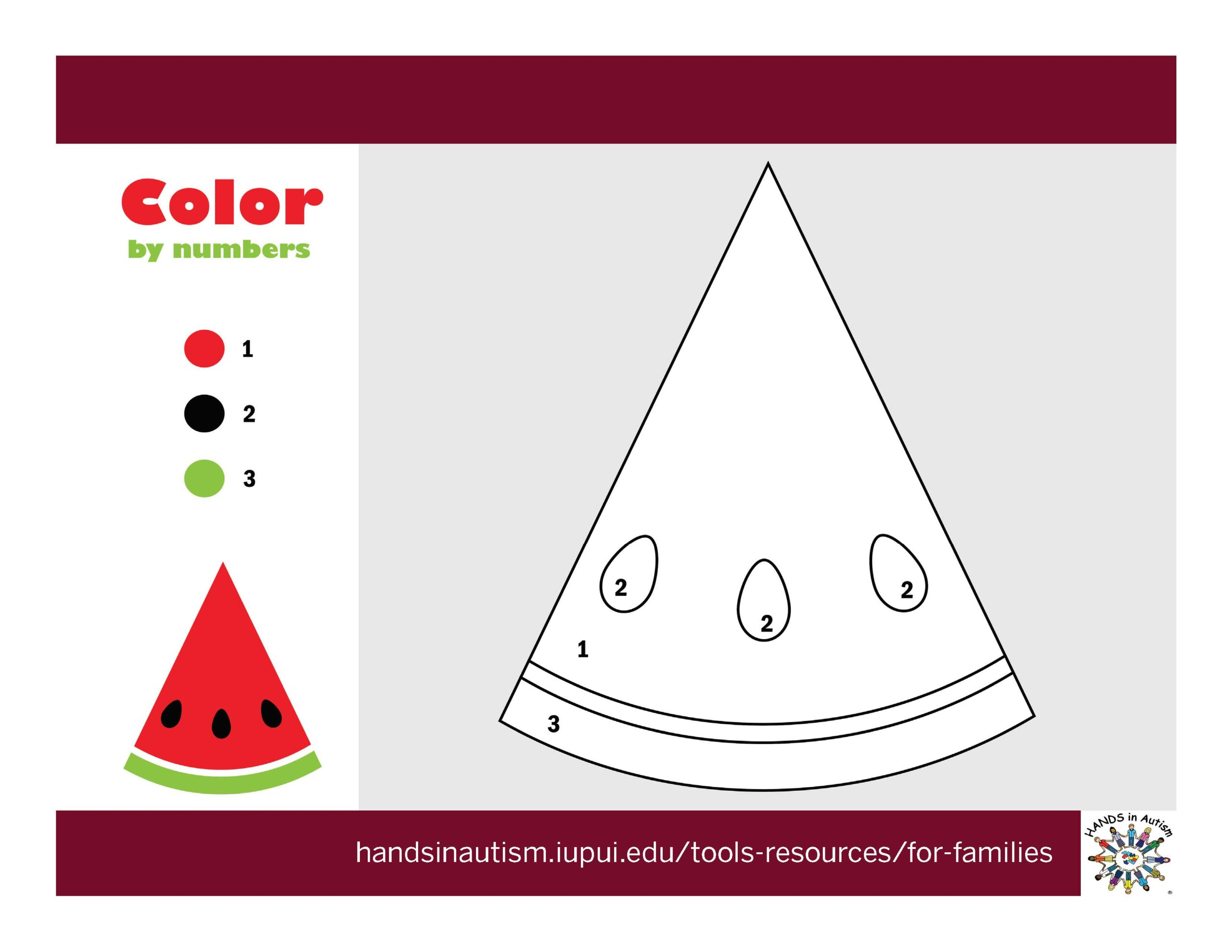 Color a Watermelon for National Watermelon Day!
